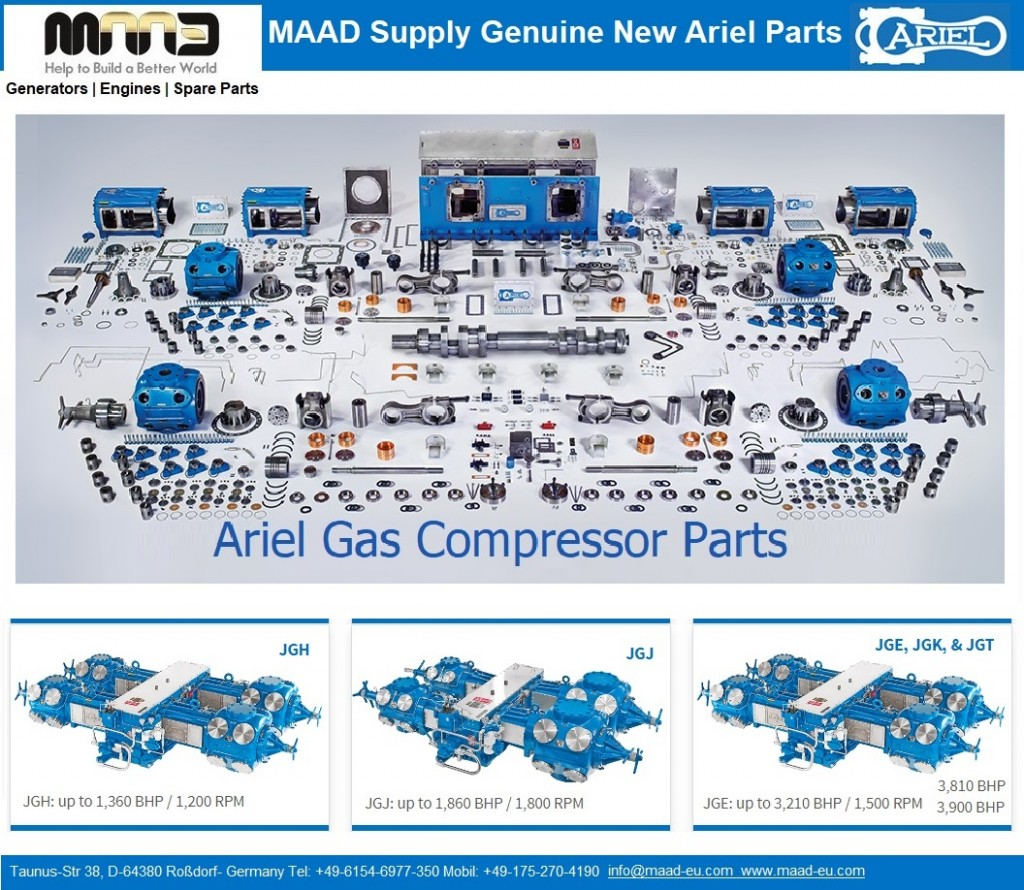 Genuine New Ariel compressors Parts